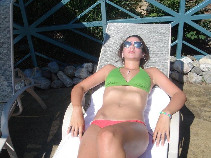 sunbathing sunscreen