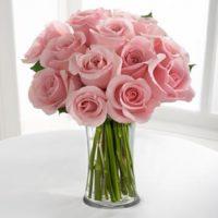 Pink Roses Vase Arrangement-500x500