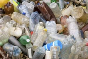 Pile of plastic pet bottles