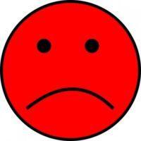 frown face red