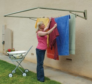 foldable energy-saving clothes line