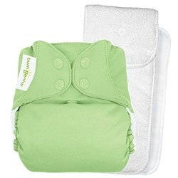 green holiday shopping diaper
