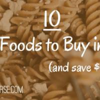 10 best foods to buy in bulk
