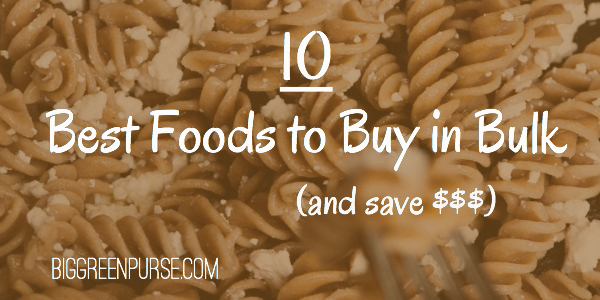 10 best foods to buy in bulk