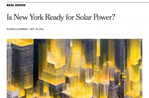 New York Times solar power