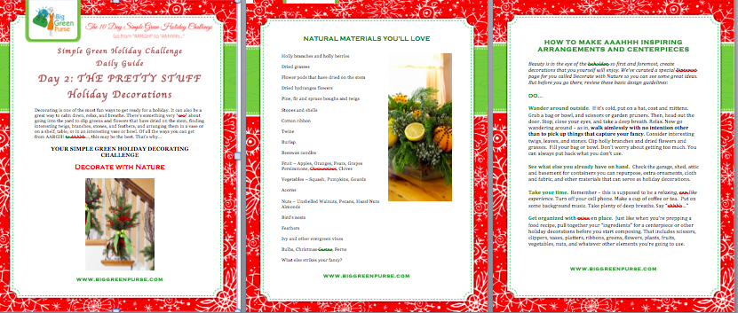 simple green holiday challenge