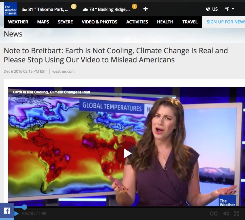 Trustworthy Climate Change News Sources